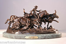 Stampede by Frederic Remington Solid Bronze Collectible Sculpt 3 Sizes FreeShip!