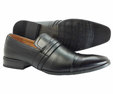 Mens Dress Shoes E&GFashion Black Slip on Loafers  Italian Leather Lining Style