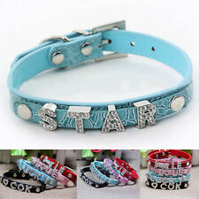 Hot Sale Small Dog Personalized Bling Adjustable Free Name Charm Pet Dog Collar