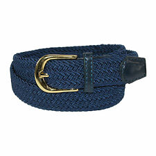 New CTM Womens Elastic Braided Stretch Belt