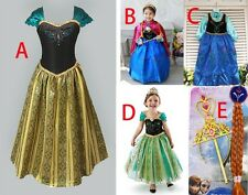 2014 Girls Costumes Frozen Disny Queen Anna Fancy Princess Dress 2-11T clothing