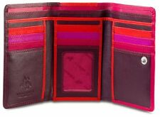Visconti RB43 Multi Colored Soft Large Trifold Leather Ladies Wallet Gift Boxed