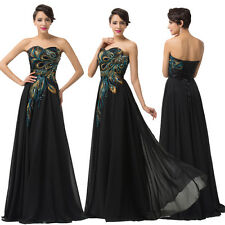 SALE IN FULL SWING Long Peacock Evening Bridesmaid Prom Gowns Formal Party Dress
