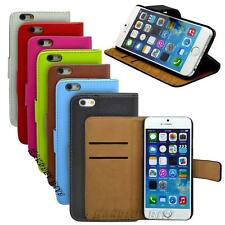 Genuine Real Leather Wallet Flip Stand Case Cover For Apple iPhone 6