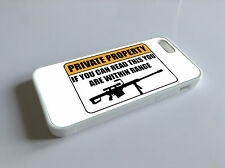PRIVATE PROPERTY FUNNY  I PHONE 4 4S 5 5S 5C RUBBER GEL SILICONE CASE COVER