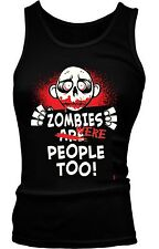 Zombies Were People Too Halloween Undead Funny Humor Joke Boy Beater Tank Top