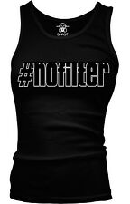 #Nofilter Hashtag No Filter Funny Humor Shenanigans Joke Boy Beater Tank Top