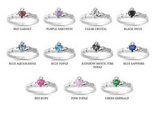 925 Sterling Silver Irish Hearts Claddagh Ring 7mm size 1-9 Avail in All Colors