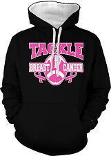 Tackle Breast Cancer Football Pink Ribbon Awareness 2-tone Hoodie Pullover