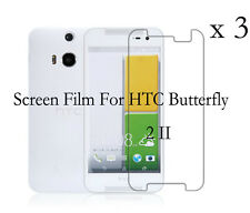 3 Glossy Matte Screen Protector Film Cover For HTC Butterfly 2 II second  B810X