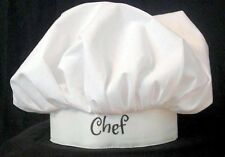 FREE PERSONALIZATION BAKER CHEF HAT COOKING THEME PARTY HALLOWEEN COSTUME UNISEX