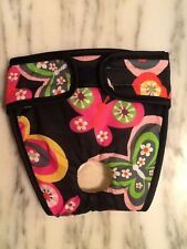 Female dog puppy Diaper Black pink green Butterfly XXS XS S M You Choose Size