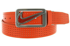 Nike Golf Mens Reversible Perforated Genuine Leather Golf Belt Bright Colors NEW