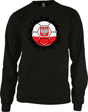 Poland Soccer Ball Pride Polish Polska Bialo-czerwoni Long Sleeve Thermal
