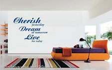 Cherish Dream Live vinyl wall sticker art decal home living room glass bathroom