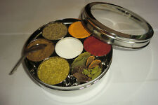 QUALITY STAINLESS STEEL MASALA DABBA  -WITH 10 SPICEBITE SPICES SELECTION