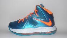 "NEW Nike Lebron X ""Baltic Blue"" 10 GS 543564-402 4-7Y Pool Party James Windchill"