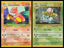 Base Set 1 Uncommon Pokemon Cards - Charmeleon, Ivysaur, Wartortle etc
