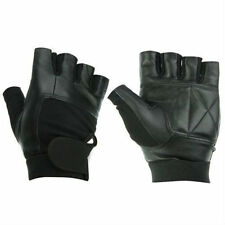 WEIGHT LIFTING PADDED LEATHER GLOVES TRAINING FITNESS BODY BUILDING GYM SPORTS
