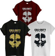 CALL OF DUTY GHOSTS Unisex T Shirt Top XBOX PS3 GAMING TSHIRT GLITTER PRINT GIFT