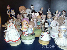 MUSIC BOXES - CERAMIC FIGURINES revolving glazed or unglazed   chose from menu