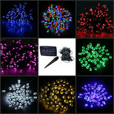 Solar Powered 100/200 LED Fairy String Light 9 Colors RGB Garden Party Xmas Lamp