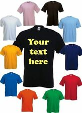 KIDS (AGED 2-11) PERSONALISED PRINTED T SHIRTS - CUSTOM DESIGN - FREE POSTAGE