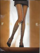 """New Falke """"Holiday"""" Shimmer Tights Pantyhose Black/Silver 40637 *Rare* sold out"""