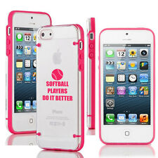 For iPhone 6/6 Plus Transparent Clear Hard TPU Case Cover Do it Better Softball