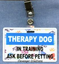 THERAPY DOG IN TRAINING ASK B4 PETTING clip