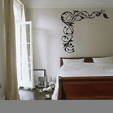 Floral Butterfly Vine Wall Art Sticker Plants Animals Vinyl Mural Decal WA087