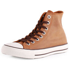 Converse All Star Vintage Leather Hi Unisex Trainers Brown New Shoes All Sizes