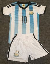 Argentina #10 MESSI Kids Soccer Jersey & Shorts Youth Sizes