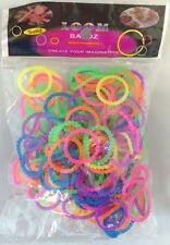 300 PEARL BUBBLE BEADED NEON LOOM BANDS BRACELET MAKING KIT TWISTZ BANDZ DIY KIT