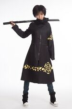 New One Piece Anime Trafalgar Law Coat 2nd Cloak Cosplay  Costume 5 Size