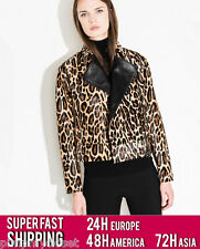 UTERQUE (ZARA LUX) | LIMITED EDITION 100% LEATHER LEOPARD PRINT JACKET 0620/500