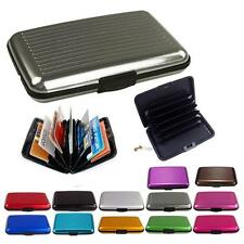 Waterproof Business Credit Card Wallet Holder Aluminum Metal Pocket Case Box TR