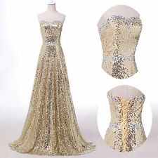 SEQUINS SWEETHEART Quinceanera Bridesmaid Prom Party Evening HOMECOMING Dresses