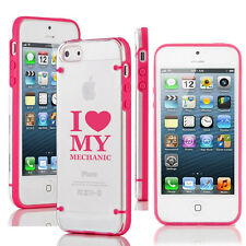For Apple iPhone 6/6 Plus Transparent Clear Hard TPU Case Cover Love My Mechanic