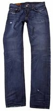 Laguna Beach Jeans Men's straight white logo leather Pocket with stitch 33 size