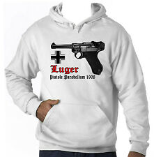 LUGER PO8 GUN GERMANY WWII - AMAZING GRAPHIC HOODIE S-M-L-XL-XXL