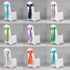Satin Chair Cover Sashes Bow Wedding Party Banquet Decoration High Quality