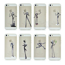 Fashional Skeleton Pattern Clear Hard Phone Cover Case for iPhone SE 5 5S 5G