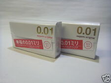 NEW Sagami Original 0.01 Ultra Thin 0.01 mm Condoms Polyurethane