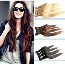 """14""""-28"""" 100% Remy New Brazilian Straight Human Hair Extensions Weaving Weft 50g"""