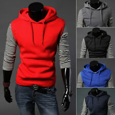 Men Casual Sleeveless Jumper Hoodies Hooded Jacket Vest Waistcoat Pullover Coat