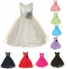 Straps Satin Formal Dance Party Christmas Flower Girl Dress Bridesmaid Dresses