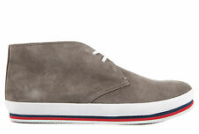 PRADA MEN'S SUEDE DESERT BOOTS LACE UP ANKLE BOOTS NEW GREY  FF1
