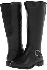 """Womens David Tate Branson 16"""" Calf Wide Shaft Tall Boot Black Leather Extra-Wide"""