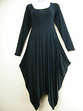 NEW LAGENLOOK SCOOP NECK DRAPE DRESS IN 6 COLOURS ONE- SIZE TO FIT SIZES 10-14